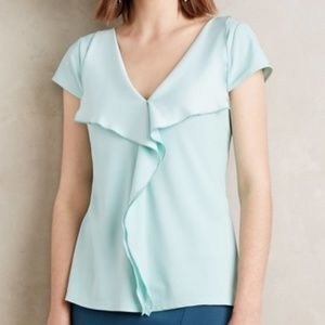 NWT ANTHROPOLOGIE Meadow Rue Cascade Front Blouse